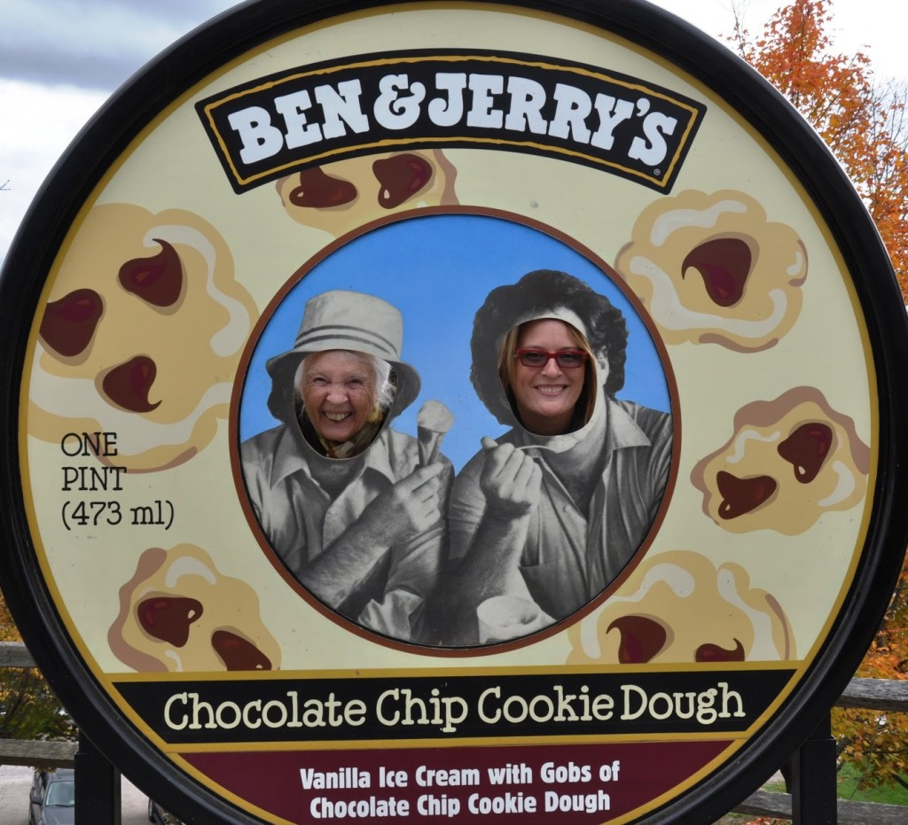 My grandmother and I on a pilgrimage to ice cream mecca in Waterbury, Vt.